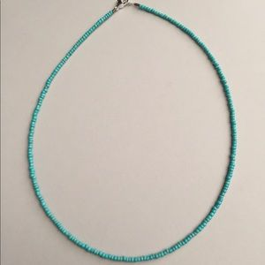 Jewelry - 16 inch Turquoise Seed Bead Necklace